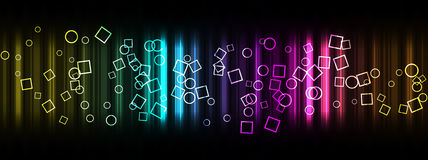 Circles and square background. Colored circles and square on colored  gradient background Royalty Free Stock Photography