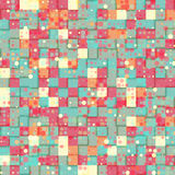 Circles and squares. Seamless abstract background with circles and squares, illustration Stock Illustration