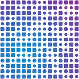 Circles and squares background. Abstract square and circles blue to violet background stock illustration
