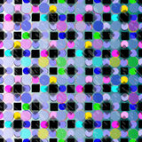 Circles and squares psychedelic vector background wallpaper Royalty Free Stock Images