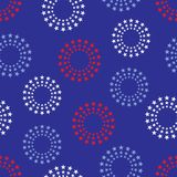 Circles of stars background il. Background illustration of red, white and blue cirlces of stars on blue background Stock Photography