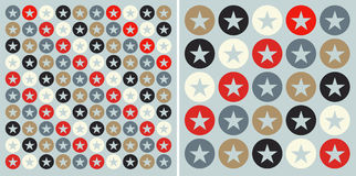 Circles with stars pattern background Stock Photo