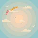 Circles on a sunrise background. Circles on a sunrise vintage background with a clouds Royalty Free Stock Photography