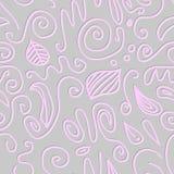 Circles and swirls seamless pattern Royalty Free Stock Photography