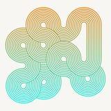 Circles and swirls vitage background stock illustration