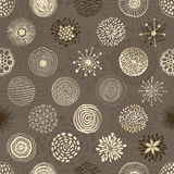 Circles texture seamless pattern. Seamless pattern with hand drawn circles texture. Abstract artistic background. Vector Illustration vector illustration