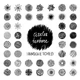 Circles texture. Set of hand drawn circles texture. Artistic collection of vector design elements vector illustration