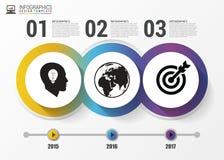 Circles for timeline infographic. Modern design template. Vector. Circles for timeline infographic. Modern design template. Business concept with 3 options Stock Illustration