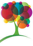 Circles tree. Bright colored circles tree, eps10  illustration Royalty Free Stock Image