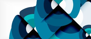 Circles and triangles geometric abstract background. Trendy abstract layout template for business or technology. Presentation or web brochure cover, wallpaper stock illustration