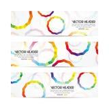 Circles vector header Royalty Free Stock Image