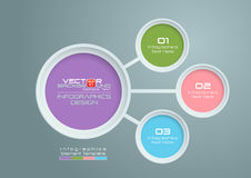 Circles Vector Infographics Design Royalty Free Stock Photography