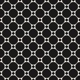Circles vector seamless pattern. Abstract geometric texture. Stock Images