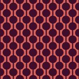 Circles on vertical guide lines with shadows. Seamless abstract. Pattern. Orange and dark purple. Simple geometric background vector illustration