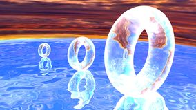 Circles on the water Stock Image
