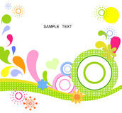 Circles and water background. Cartoon of  circles and water background Royalty Free Stock Photos