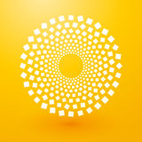 Circles of white squares Royalty Free Stock Photography