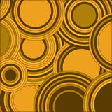 Circles yellow color abstract background. Geometrical decorative Royalty Free Stock Photos