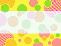 Circles2. Abstract drawing with multi-colour original circles for pattern or a background Royalty Free Stock Photos