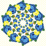 Circlet of flower. Vector illustration. Vector vintage roses. Flower pattern Stock Photos