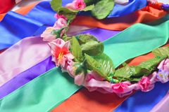 Circlet of flowers Stock Photography