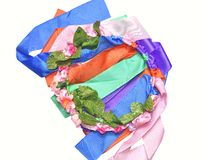 Circlet of flowers. Color circlet of flowers with long ribbons Royalty Free Stock Image