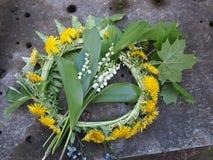 Circlet von Blumen Lizenzfreies Stockfoto