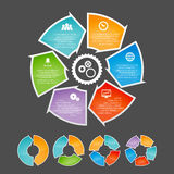 Circling Arrow Infographic Element Set Royalty Free Stock Photo