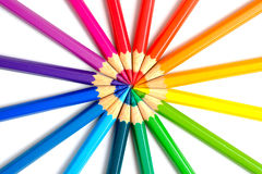 Circling coloring pencils Royalty Free Stock Photos