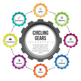 Circling Gear Infographic Royalty Free Stock Photography