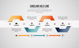 Circling Hex Line Infographic Stock Photography