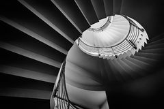 Spiraling staircase Royalty Free Stock Photography
