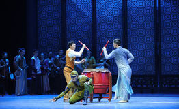 Circling-The third act of dance drama-Shawan events of the past Stock Images