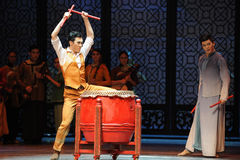 Circling-The third act of dance drama-Shawan events of the past Stock Image