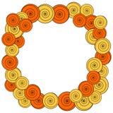 Circlular-Rahmengrenzspiralen-Einladungskarte Stockfotografie