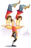 Circo acrobatico illustrazione di stock