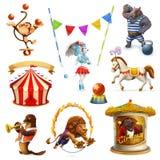 Circo, animales divertidos Fotos de archivo libres de regalías