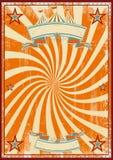 Circo arancio retro Fotografia Stock
