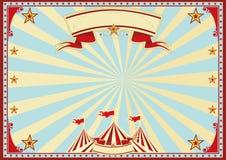 Circo azul horizontal dos raios de sol Fotografia de Stock Royalty Free