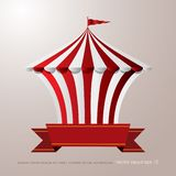 Circo blanco rojo libre illustration