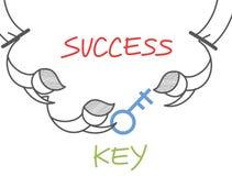 Circo chiave di successo illustrazione vettoriale