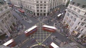 Circo de Oxford, Londres almacen de metraje de vídeo