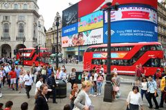 Circo de Piccadilly, Londres Imagens de Stock Royalty Free