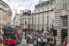 Circo de Piccadilly, Londres Inglaterra Imagenes de archivo
