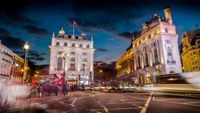Circo de Piccadilly no crepúsculo Foto de Stock Royalty Free