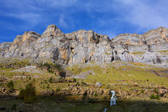 Circo de Soaso in Ordesa Valley Aragon Pyrenees spain Royalty Free Stock Images
