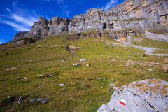 Circo de Soaso in Ordesa Valley Aragon Pyrenees spain Royalty Free Stock Photo