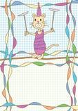 Circo del gatto Fotografia Stock