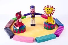 Circo del Plasticine Fotografía de archivo libre de regalías