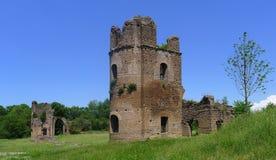 Circo di Massenzio dejó la torre, Appia Antica, Roma foto de archivo libre de regalías